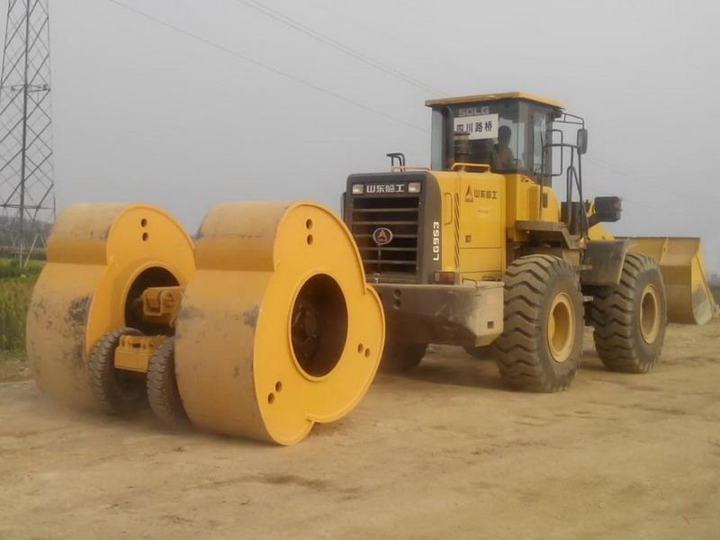 陕西省336国道神木店塔至张板崖公路高速液压夯实机施工案例