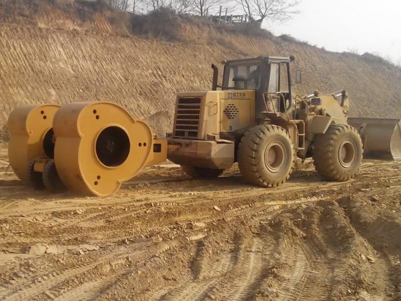 重庆巫山县桂花大桥工程液压夯实机施工案例